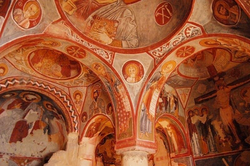 kaplicy elmali goreme kilise skała zdjęcie royalty free