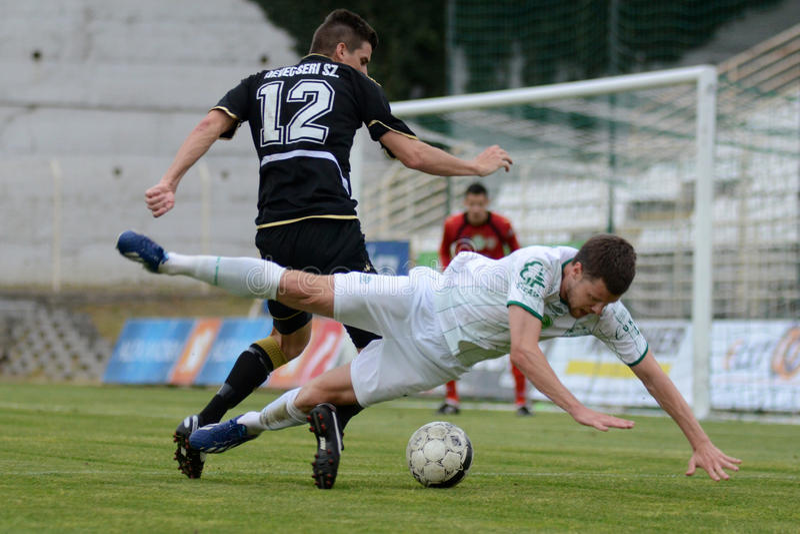 Kaposvar - παιχνίδι ποδοσφαίρου Szombathely στοκ εικόνες