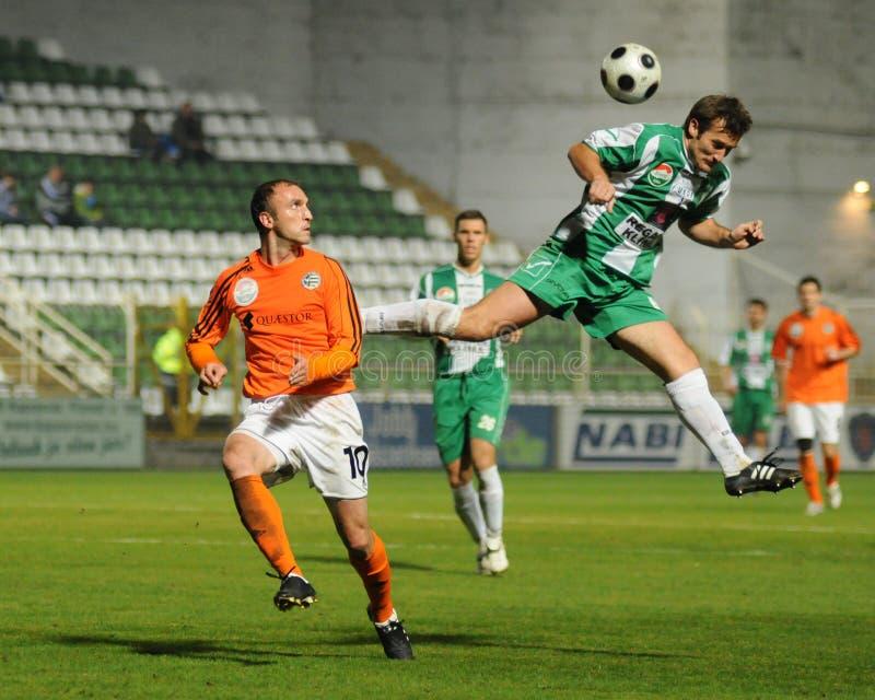 kaposvar ποδόσφαιρο gyor παιχνιδιών στοκ εικόνα