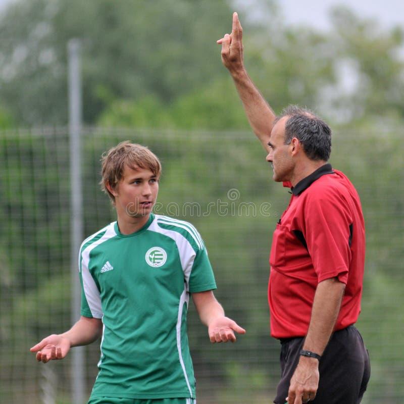 kaposvar ποδόσφαιρο gyor παιχνιδιών u15 στοκ φωτογραφία