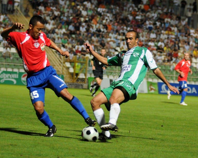 kaposvar ποδόσφαιρο nyiregyhaza παιχνιδιώ&n στοκ εικόνες