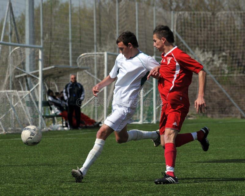 Kaposvar - Debrecen-U17 Fußballspiel stockfotos