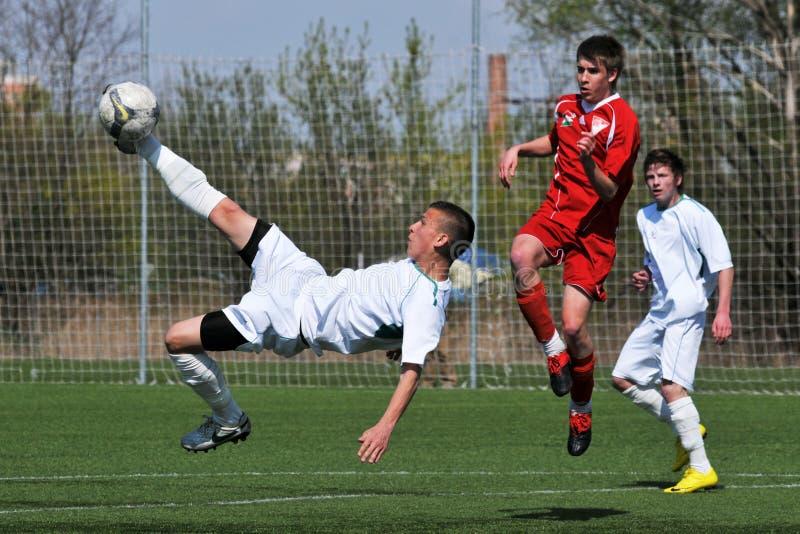 Kaposvar - Debrecen-U17 Fußballspiel stockbild