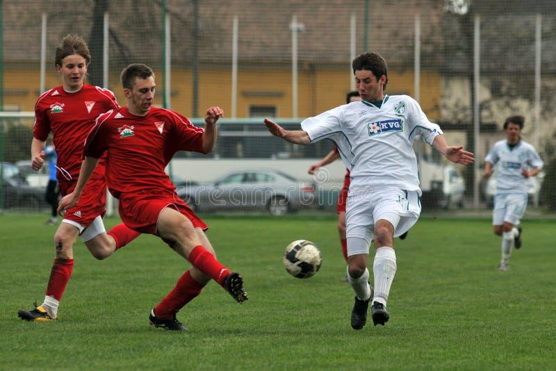 Kaposvar - Debrecen-U19 Fußballspiel stockbild