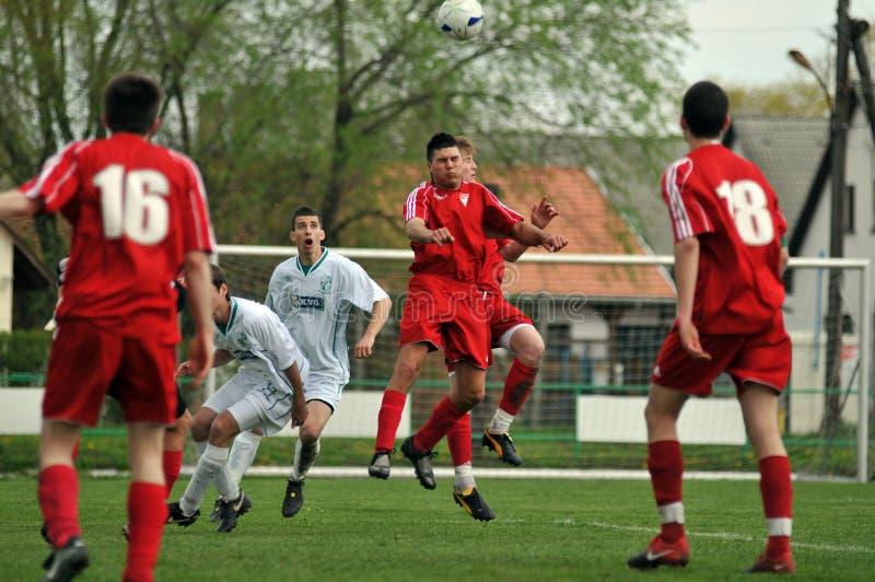 Kaposvar - Debrecen-U19 Fußballspiel stockfotos