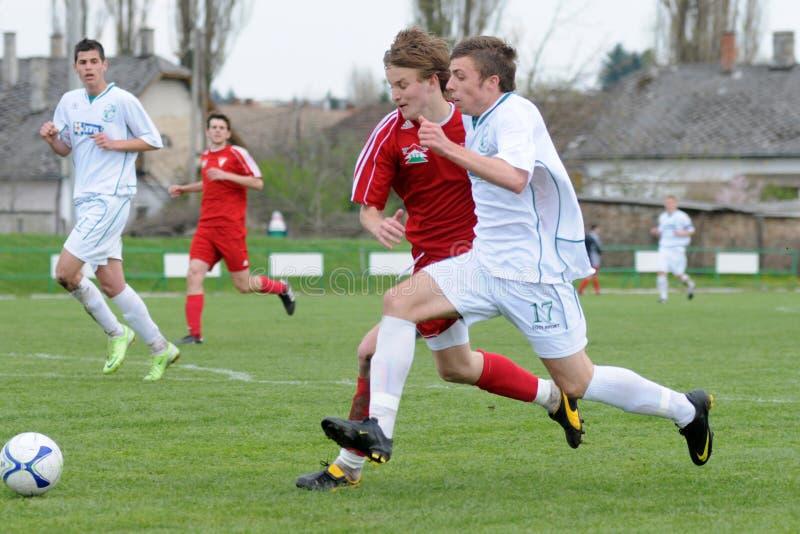Kaposvar - Debrecen-U19 Fußballspiel lizenzfreie stockfotografie