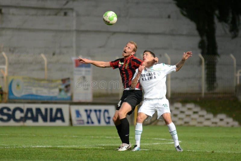 Kaposvar - Honved Fußballspiel lizenzfreies stockbild