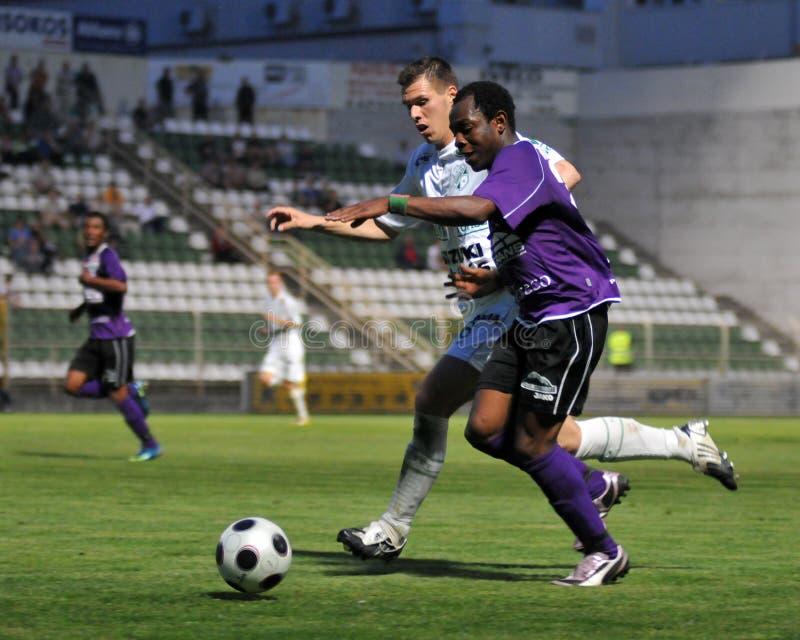 Kaposvar - Kecskemet Fußballspiel lizenzfreie stockfotografie