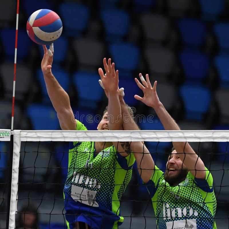 Kaposvar - Kecskemet, gioco di pallavolo immagini stock libere da diritti