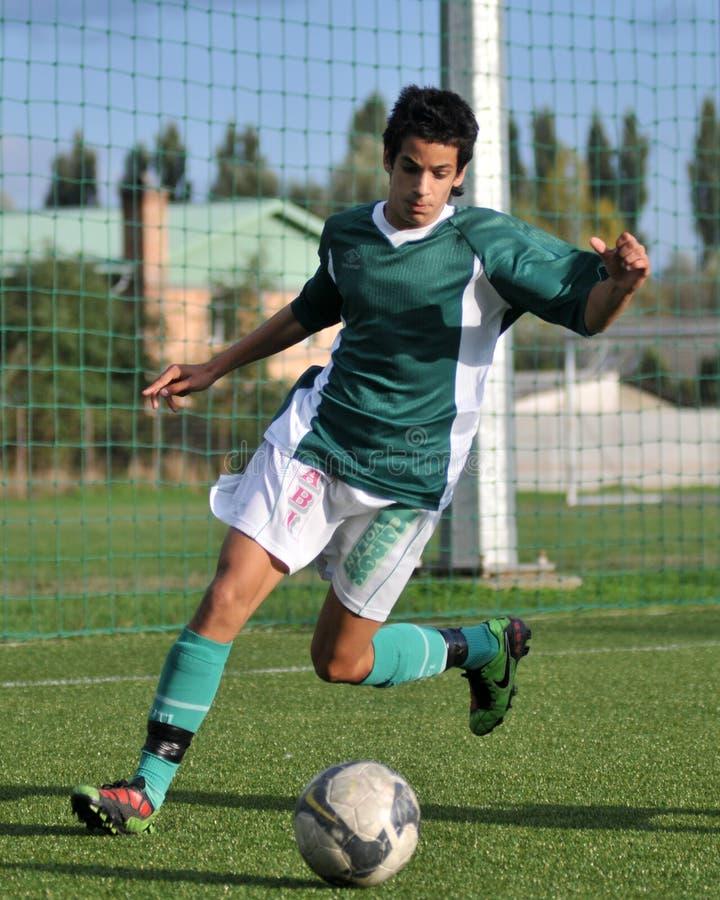 Kaposvar - Komlo u17 Fußballspiel stockbild