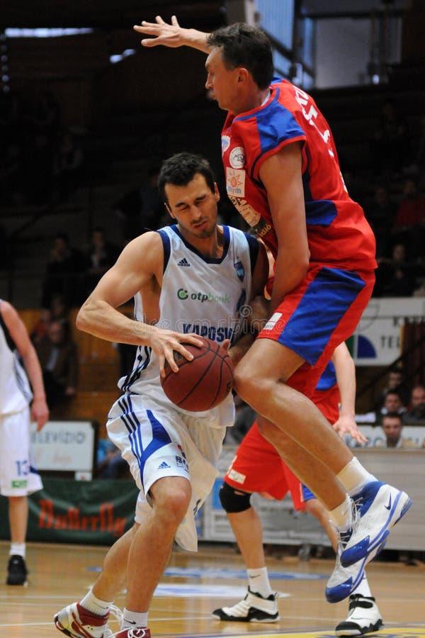 Kaposvar - Nyiregyhaza basketball game royalty free stock photography
