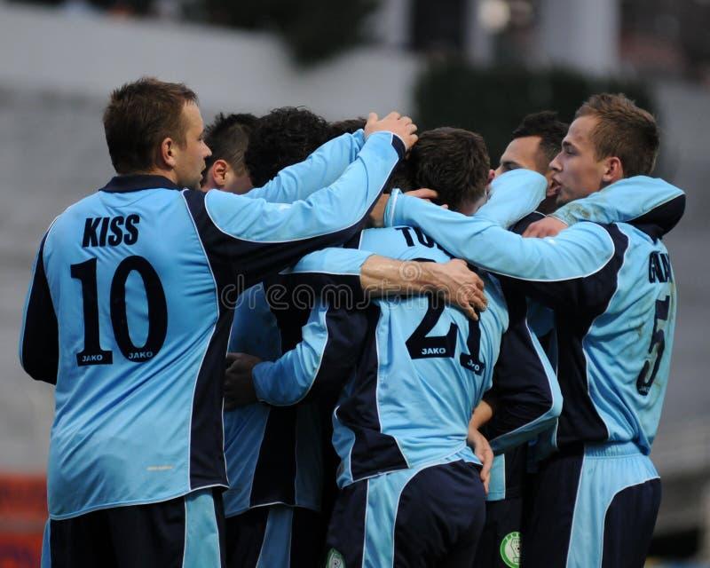 Kaposvar - Paks Fußballspiel stockfoto