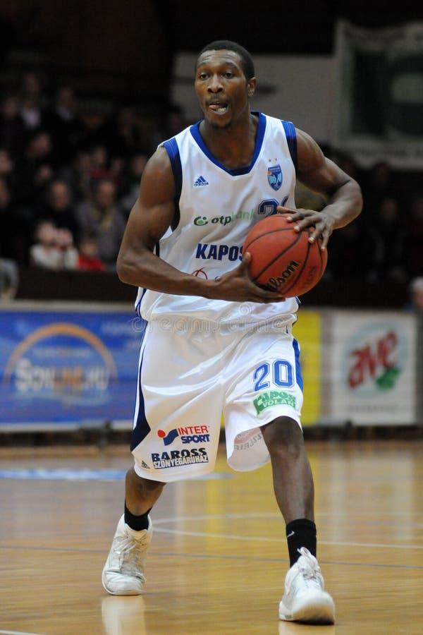 Kaposvar - Sopron Basketballspiel lizenzfreies stockbild