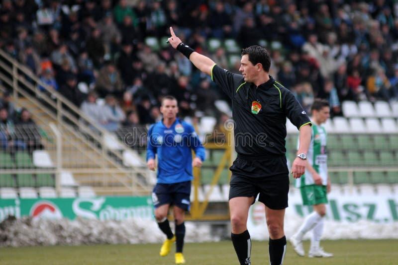 Kaposvar - Zalaegerszeg voetbalspel royalty-vrije stock foto's