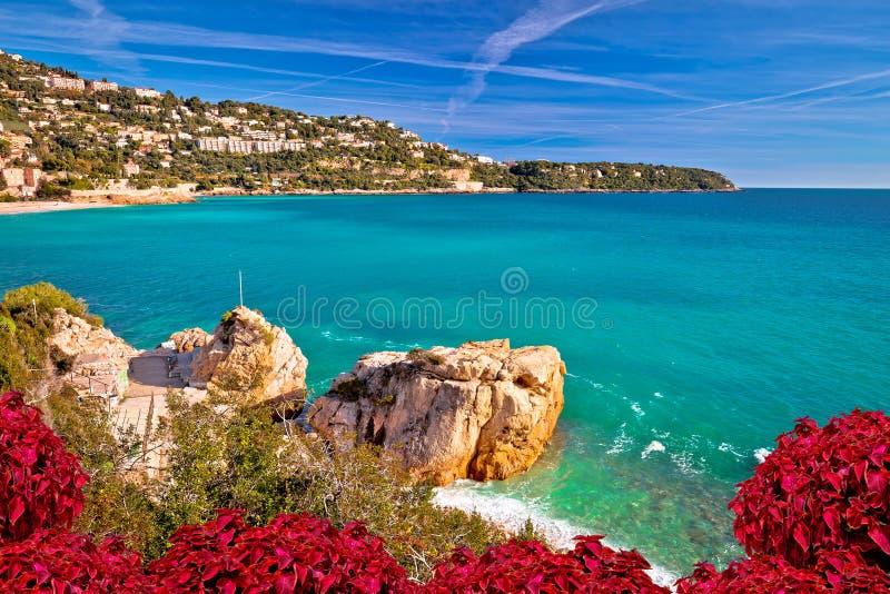 Kappe Martin nahe Monaco-Mittelmeerküstenansicht lizenzfreie stockbilder