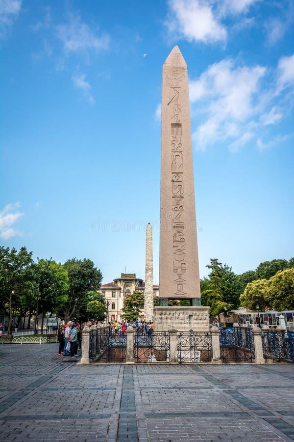 Kapplöpningsbana av Constantinople Sultan Ahmet fyrkant, Istanbul, Tu arkivbilder