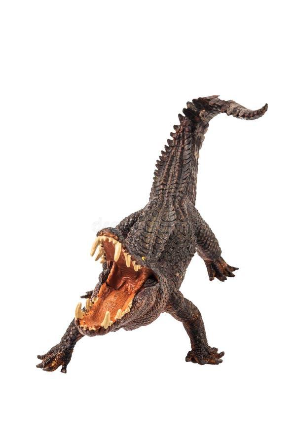 Kaprosuchus, δεινόσαυρος στο άσπρο υπόβαθρο στοκ εικόνες