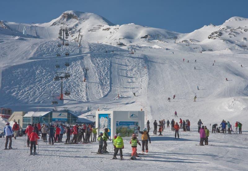 Kaprun滑雪胜地,奥地利 免版税库存图片
