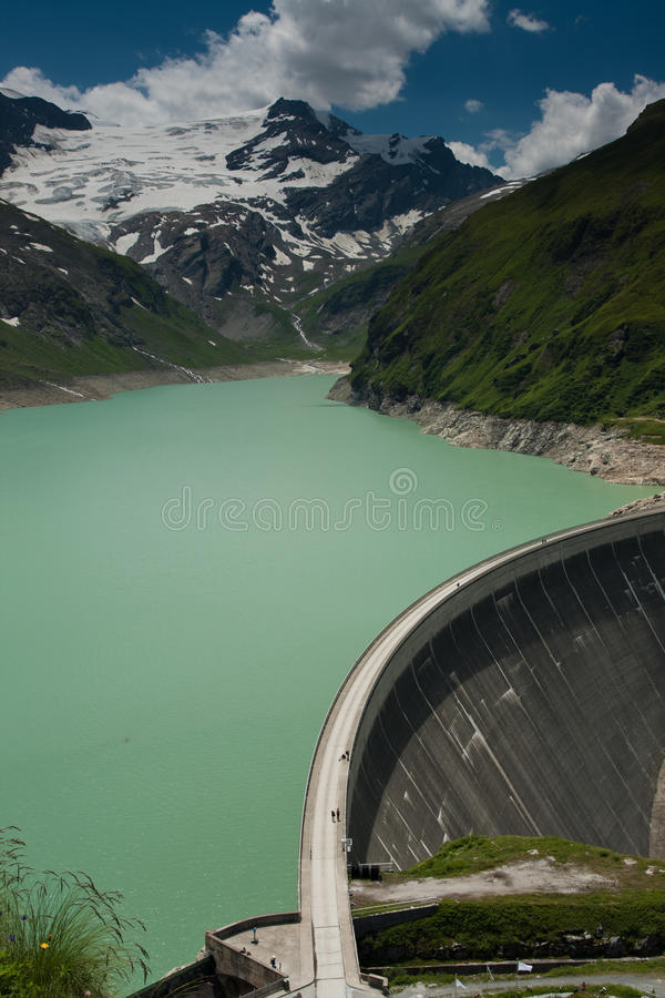 Kaprun Dam, Lake And Alps Royalty Free Stock Image