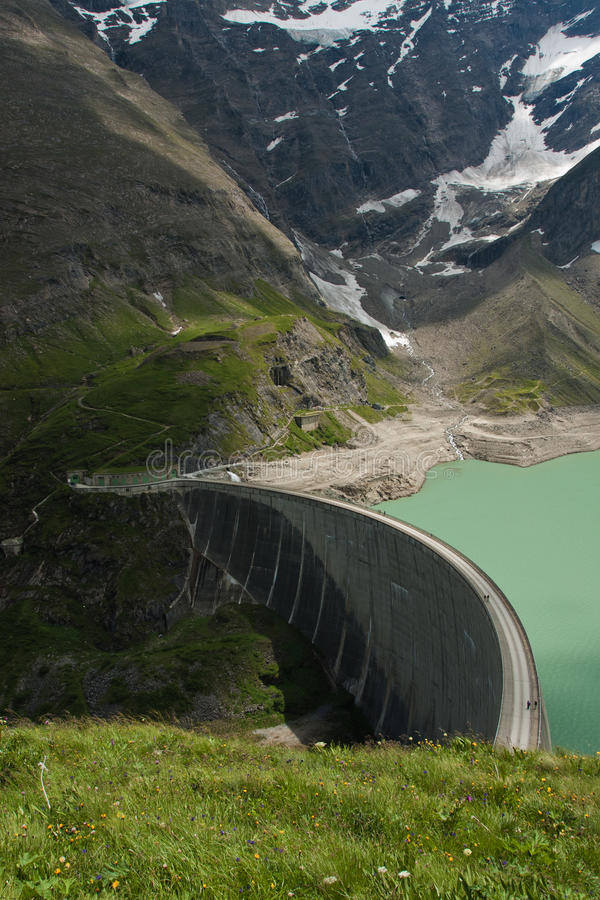 Download Kaprun Dam, lake and Alps stock image. Image of green - 23450129