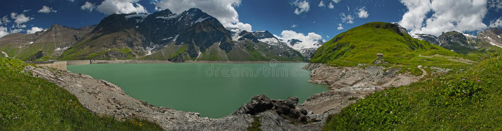 Kaprun Dam, Lake And Alps Stock Photos