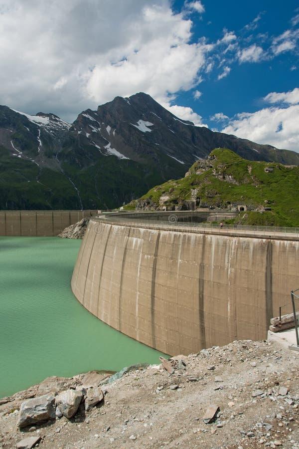 Kaprun Dam, Lake And Alps Stock Image