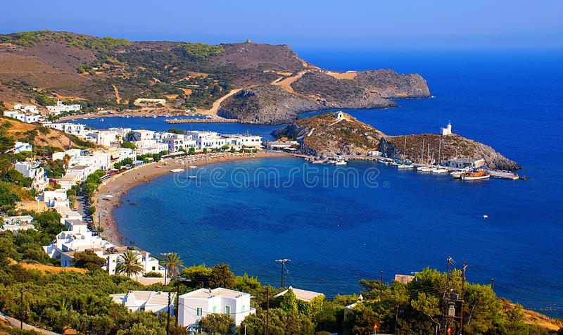 Kapsali village at Greece stock images