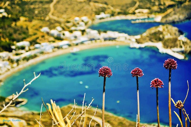 Kapsali village at Kithera island in Greece. stock photography