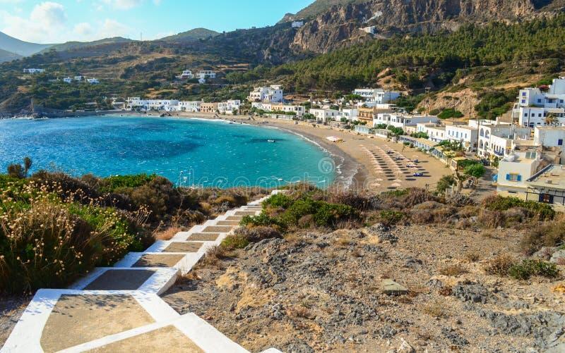 Kapsali village at Kithera island in Greece. stock images