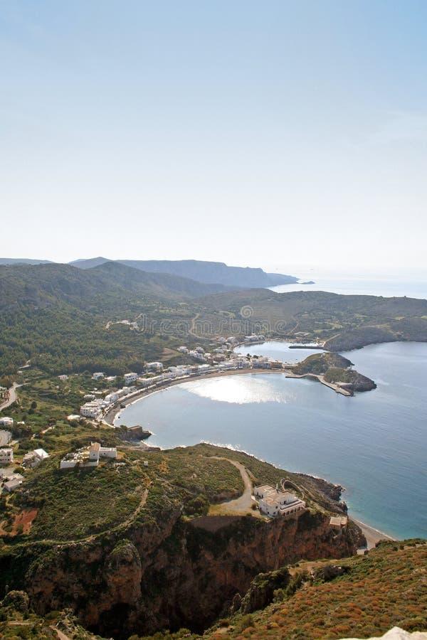 Kapsali village at Kythera island, Greece. stock photography