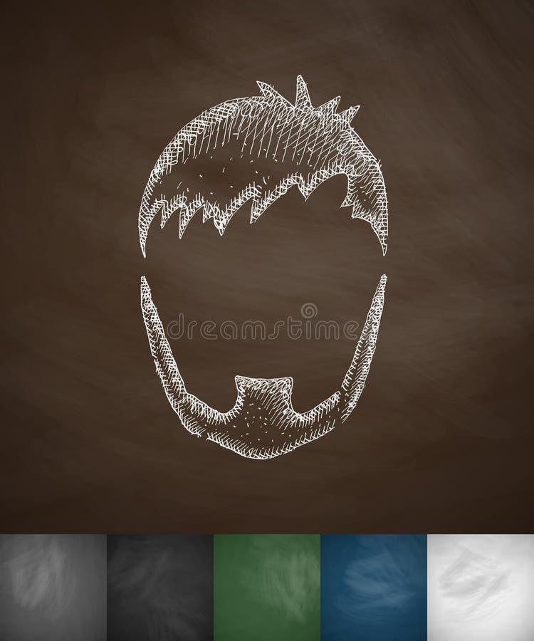 Kapsel en baardpictogram vector illustratie