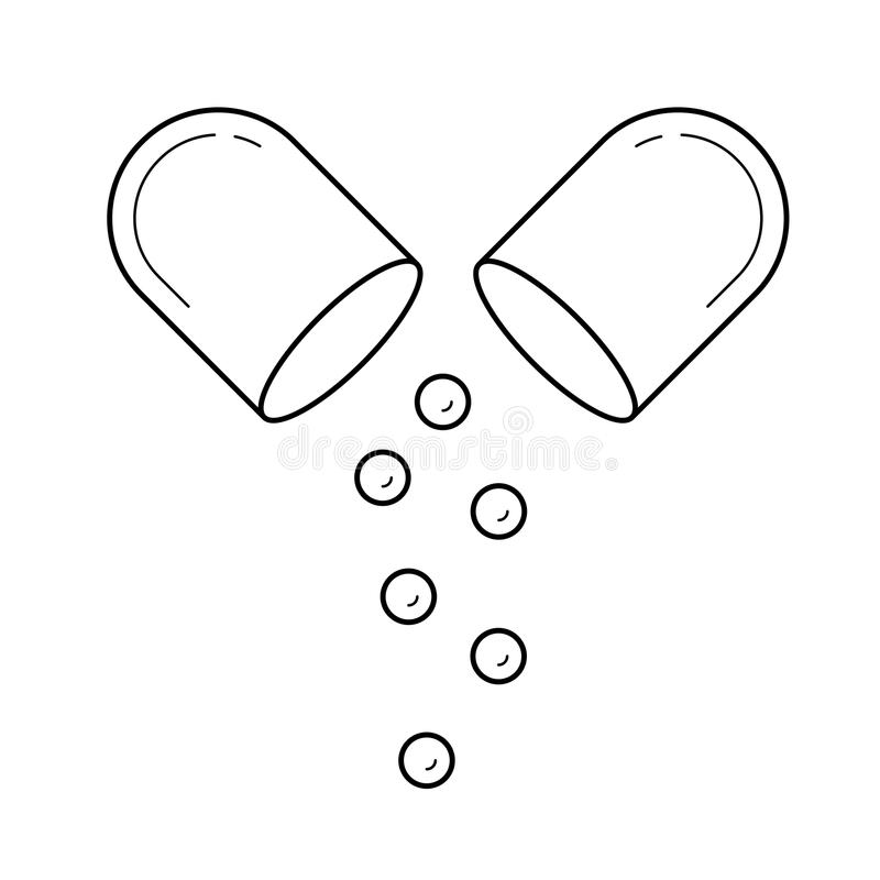Kapsellinje symbol royaltyfri illustrationer