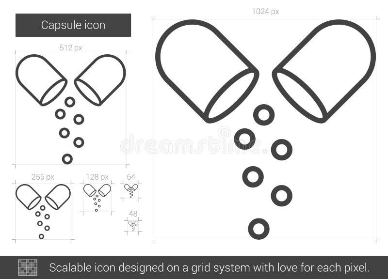 Kapsellinje symbol vektor illustrationer