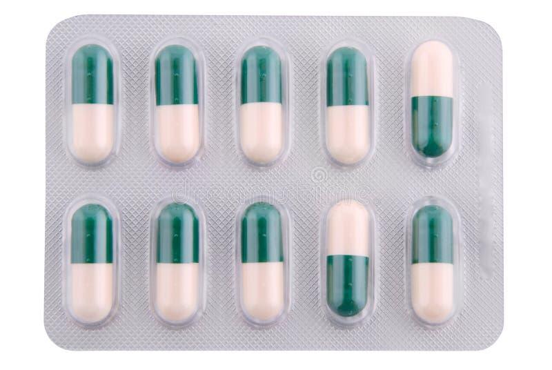 Kapseln mit einem Medizin Beschneidungspfad stockfoto