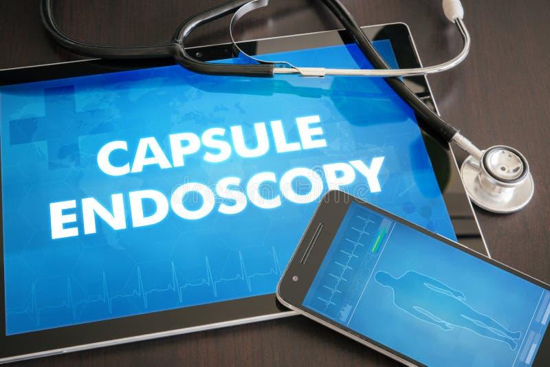 Kapseln Sie Diagnose m der Endoskopie (die gastro-intestinale Krankheit bezogen) ein lizenzfreie abbildung