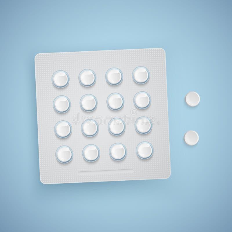 Kapseln und Pillen in der neuen Blisterpackung, Arzneimittel, realistischer Vektor vektor abbildung