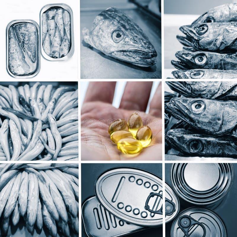 Kapslar av omsorger för fiskolja för kolesterolen, collageförhindrandealternativ arkivfoton