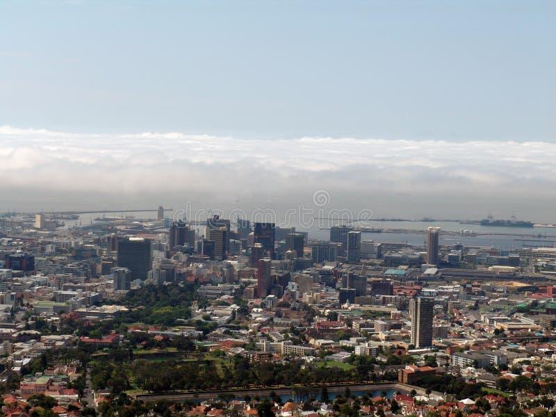 Kapstadt-Draufsicht Stockfotos