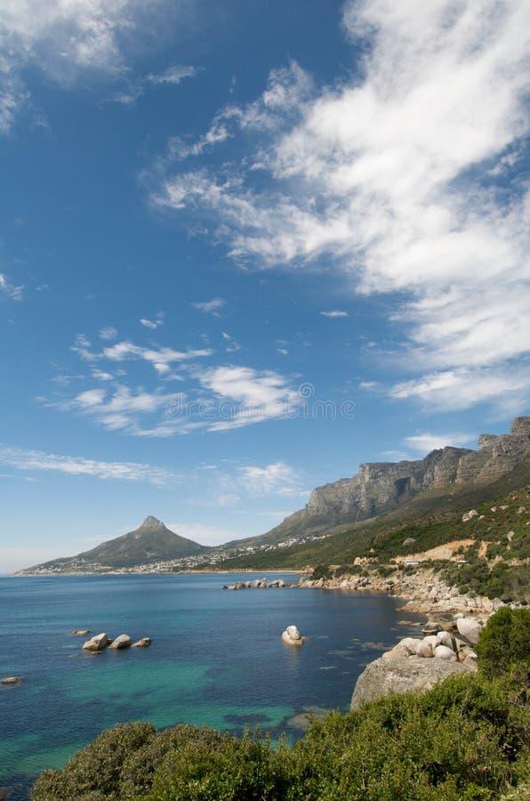 Kapstadt-Küste-Vertikale lizenzfreies stockbild