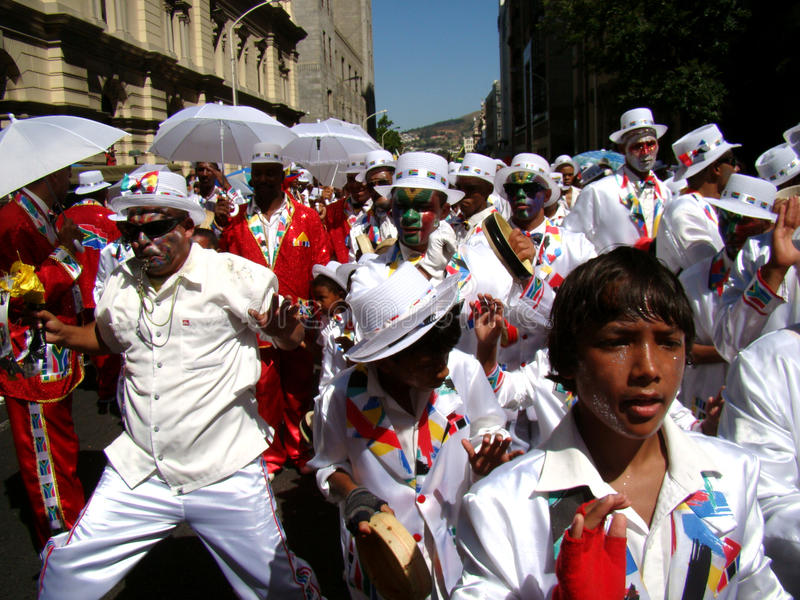 Kapstadt-Minnesänger-Karnevals-Band lizenzfreies stockfoto