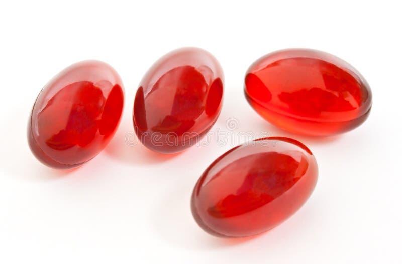 kapsuł gel czerwień obrazy royalty free