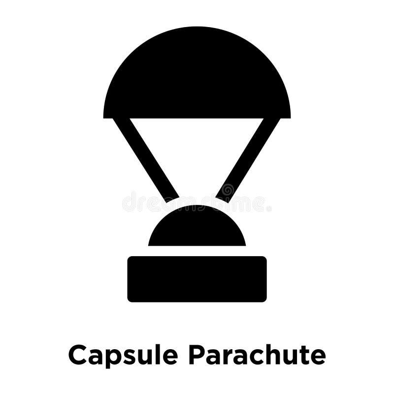Kapsuły ikony Spadochronowy wektor odizolowywający na białym tle, logo ilustracji