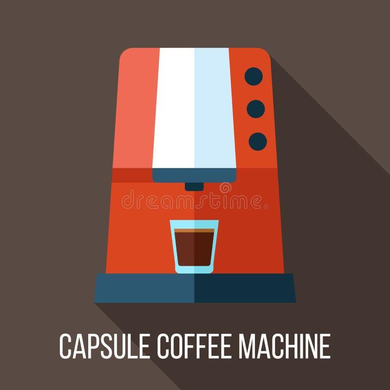 Kapsuły kawy maszyna ilustracja wektor