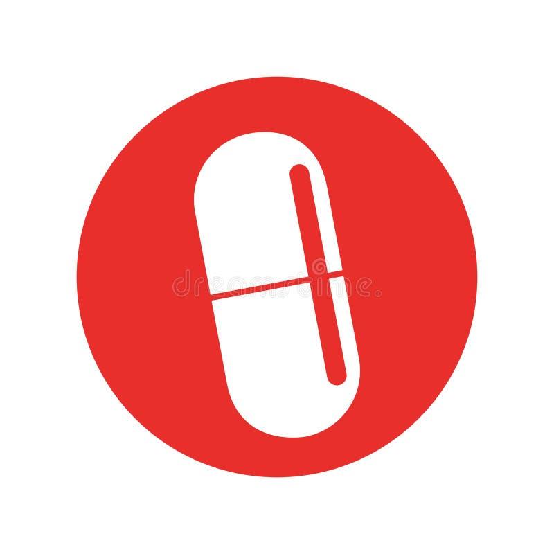 Kapsuły medyczna odosobniona ikona ilustracja wektor
