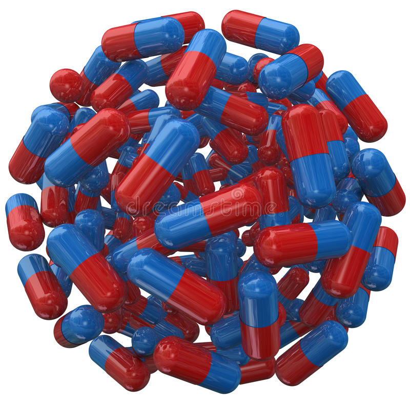 Kapsuły pigułki medycyny Balowa Recepturowa sfera ilustracji