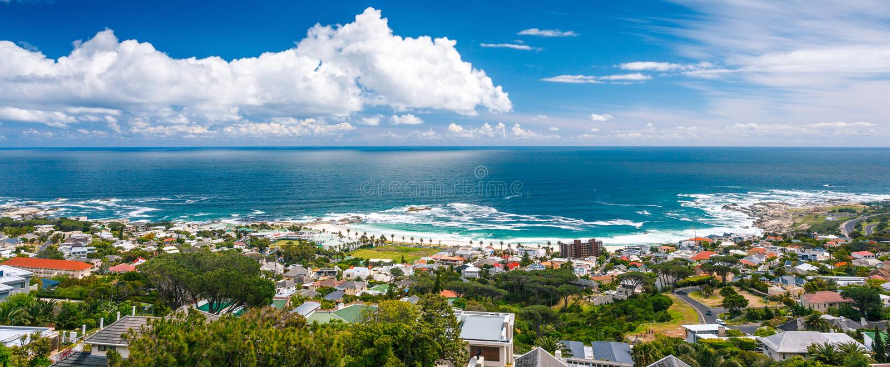 Kapsztad panoramiczny krajobraz obraz royalty free