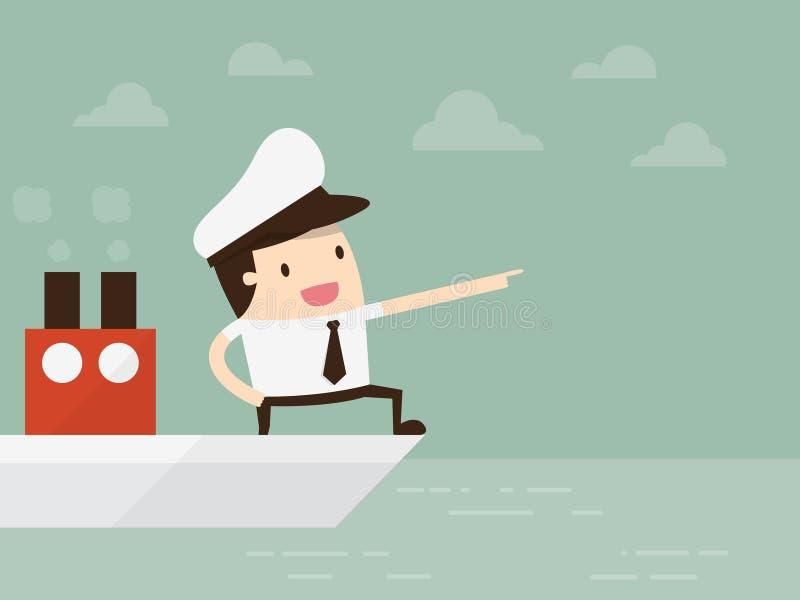 kapten royaltyfri illustrationer