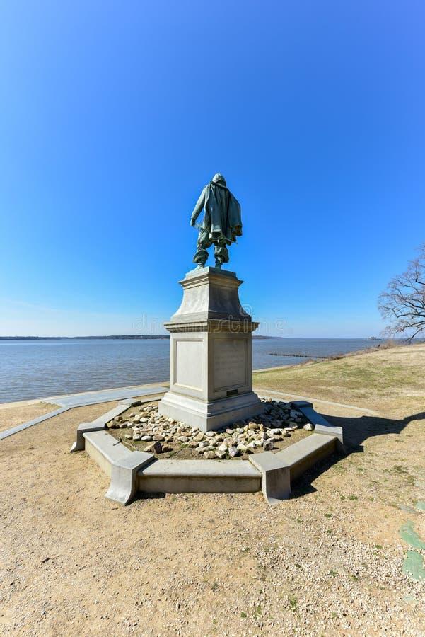 Kapten John Smith - Jamestown arkivbilder