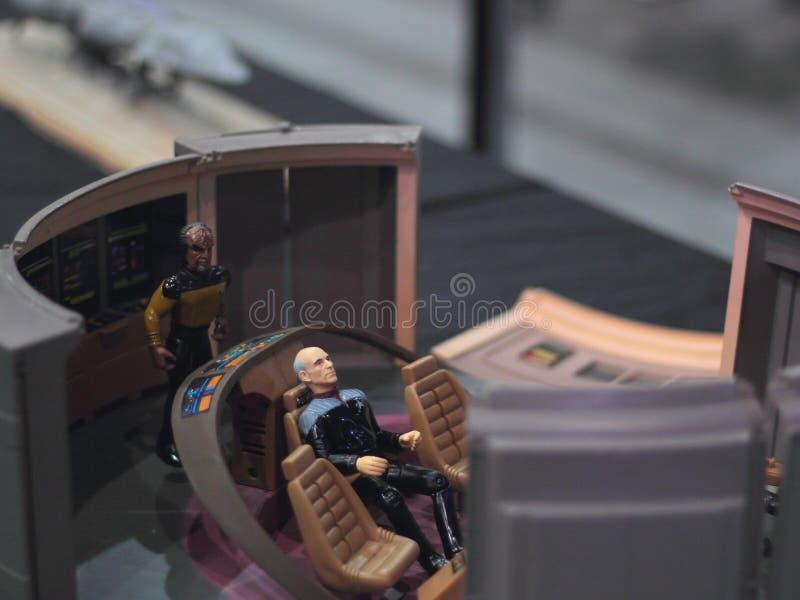 Kapten Picard fotografering för bildbyråer