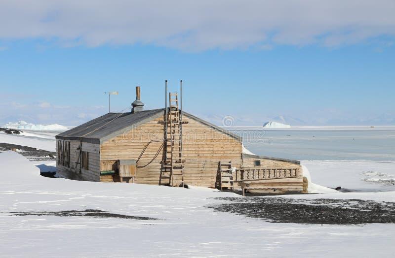 Kapten Scotts Hut, Antarktis royaltyfria bilder